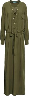 Melissa Odabash Meghan Lace-up Voile Maxi Dress