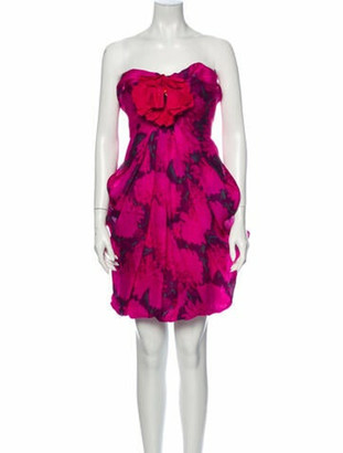 Lanvin 2010 Mini Dress Pink
