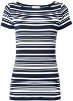 MICHAEL Michael Kors striped T-shirt - women - Polyester/Spandex/Elastane - M