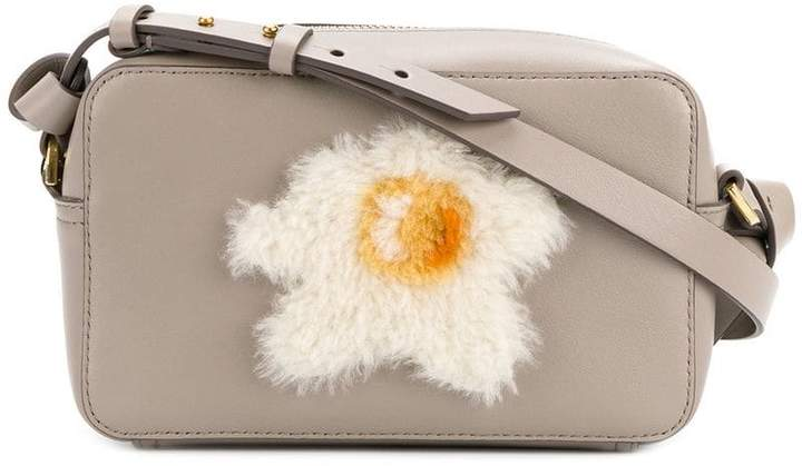 Anya Hindmarch egg appliqué crossbody bag
