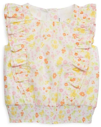 Janie and Jack Little Girl's & Girl's Ruffled Floral-Print Top