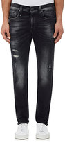 R 13 Men's Skate Distressed Skinny Jeans-Black Size 28