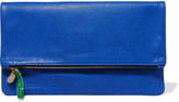 Clare Vivier Maison fold-over textured-leather clutch