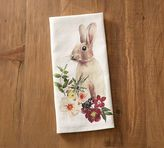 Pottery Barn Floral Bunny Tea Towel