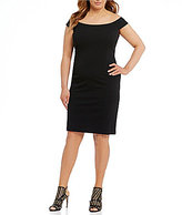 Vince Camuto Plus Off-the-Shoulder Scuba Crepe Bodycon Dress