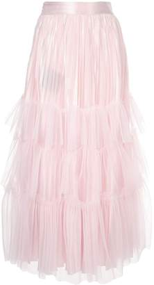 Huishan Zhang tulle tiered maxi skirt