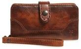 Frye 'Melissa' Leather Phone Wallet - Brown