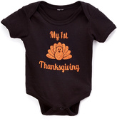 Beary Basics Black 'My First Thanksgiving' Bodysuit - Infant