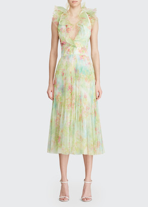 Ralph Lauren Collection Tasha Ruffled Chiffon Dress