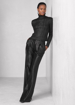 Ralph Lauren Breanna Wool-Silk Jacquard Pant