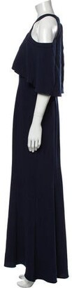 CARMEN MARCH Off-The-Shoulder Long Dress Blue