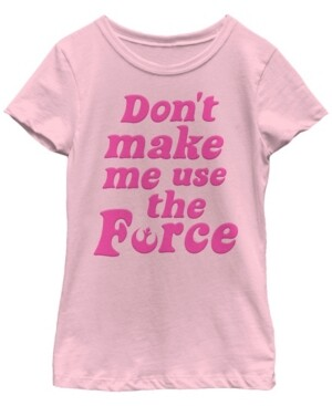 Fifth Sun Star Wars Big Girl's Retro Force Quote Short Sleeve T-Shirt