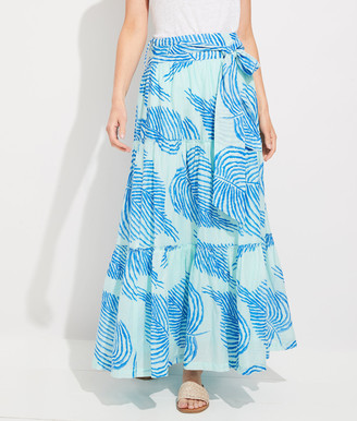 Vineyard Vines Palm Frond Tie-Waist Maxi Skirt