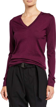 Brunello Cucinelli Cashmere-Silk V-Neck Sweater