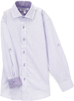 Isaac Mizrahi Lilac & Purple Contrast Speckle Button-Up - Toddler & Boys