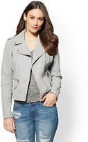 New York & Co. Sueded Faux-Leather Moto Jacket