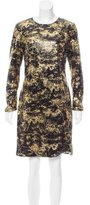 Adam Long Sleeve Sequined Dress