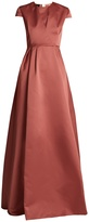 Rochas Round-neck duchess-satin gown