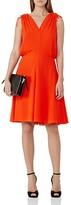 Reiss Stellie Ruched-Shoulder Dress