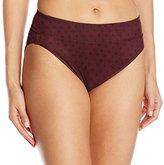 Warner's Women's No Pinching. No Problems. Tailored Microfiber Hi-Cut Brief Panty