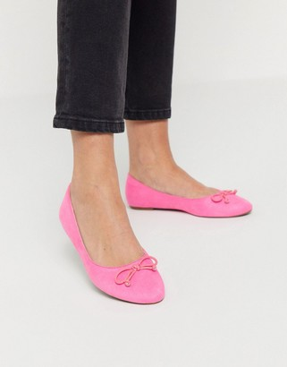Truffle Collection easy ballet flats in pastel pink