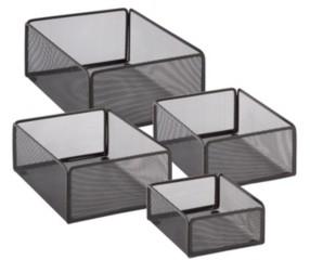 Honey-Can-Do eXcessory 4-Pc. Basket Set, Black