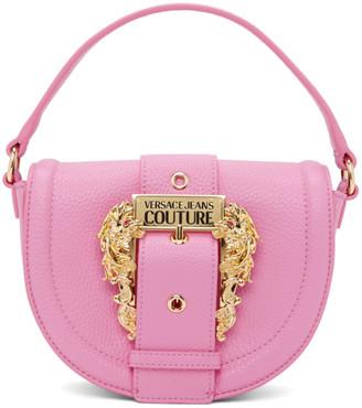 Versace Pink Round Buckle Bag