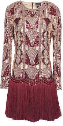 Just Cavalli Embellished Tulle Mini Dress