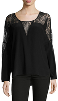 Gold Hawk Silk Lace Wedge Blouse
