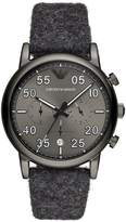 Emporio Armani Emporio Armani Gunmetal Stainless Steel Fashion Mens Fabric Strap Watch