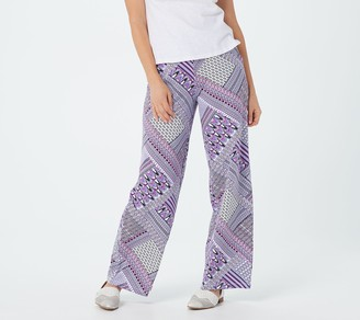 Denim & Co. Regular Beach Pull-On Wide-Leg Pants