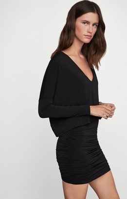 BCBGMAXAZRIA Draped Knit Dress