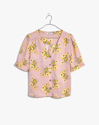 Madewell Plaza Button-Front Shirt in Dutch Dandelions