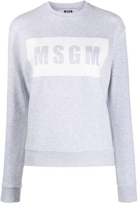 MSGM Box logo print sweater