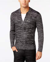 INC International Concepts I.N.C. Men's Manchester Heathered Mixed Media Sweater, Created for Macy's