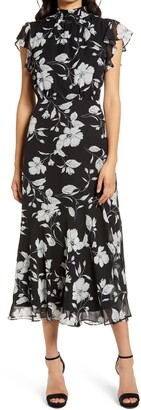Sam Edelman Elegant Floral A-Line Dress