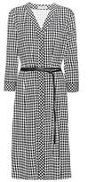 Altuzarra Leppard checked dress