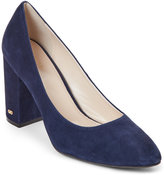 Cole Haan Marine Blue Alanna Block Heel Pumps