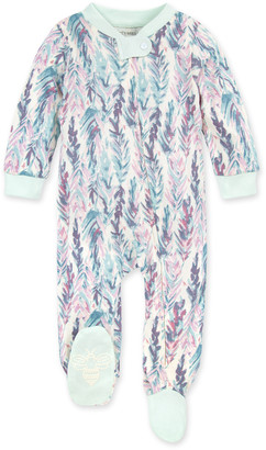 Burt's Bees Ruffled Feathers Organic Baby Zip Front Loose Fit Pajamas