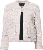 Proenza Schouler collarless tweed jacket - women - Silk/Cotton/Acetate - 0