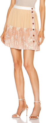 Chloé Floral Pleated Mini Skirt in Cloudy Rose | FWRD