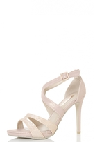 Quiz Rose Shimmer Strappy Heeled Sandals