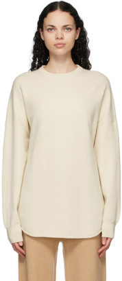 Extreme Cashmere Off-White Cashmere N53 Crew Hop Sweater