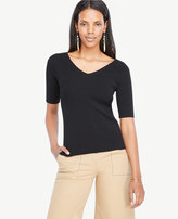Ann Taylor Double V Sweater