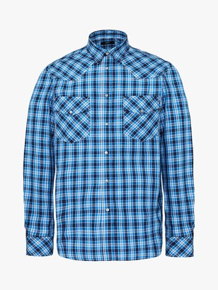 Diesel Large Check Cotton Shirt, 89V Blue