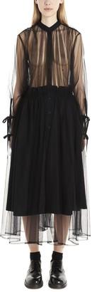 Noir Kei Ninomiya Tulle Sheer Shirt Dress