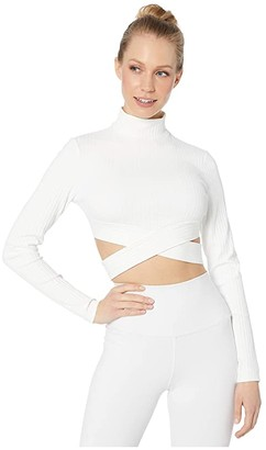 Michi Reflex Top (Ivory Rib) Women's Clothing