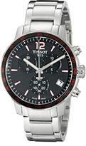 Tissot Men Stopwatch Watch with Black Dial Analog - Digital