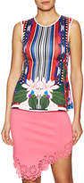 Clover Canyon Women's Botanical Scarf Sleeveless Top