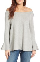 Gibson Women's Bell Sleeve Off The Shoulder Sweatshirt